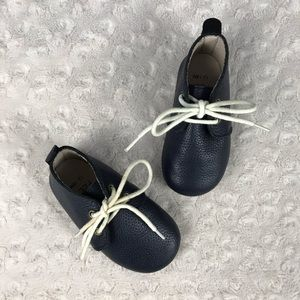 Monkey Feet Oxford Style Lace Up Shoes Navy Blue